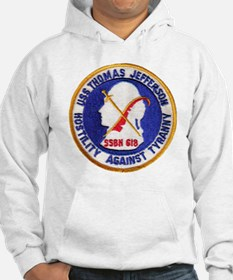 uss thomas jeffer patch transpar Hoodie