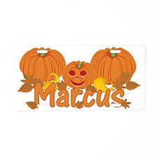 Halloween Pumpkin Marcus Aluminum License Plate
