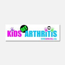 Kids Get Arthritis Too Neon Car Magnet 10 x 3