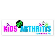 Kids Get Arthritis Too Neon Bumper Sticker