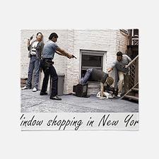 Window Shopping in New York Throw Blanket