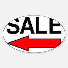 Sale Left Sticker (Oval)