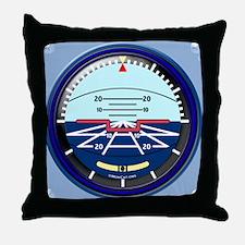 ArtHorizBlue12x12 Throw Pillow