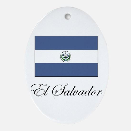 El Salvador - Flag Oval Ornament