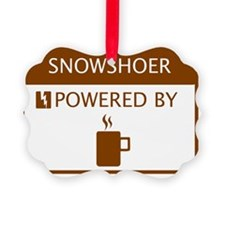 Snowshoer Powered by Coffee Ornament