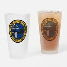 uss perry patch transparent Drinking Glass