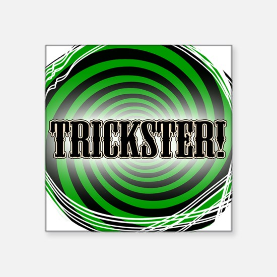 "Trickster Square Sticker 3"" x 3"""