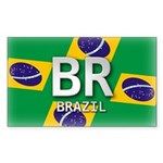 Brazil Pride Rectangle Sticker