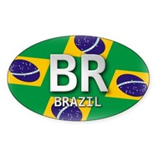 Brazil Pride Oval Decal