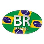 Brazil Pride Oval Sticker