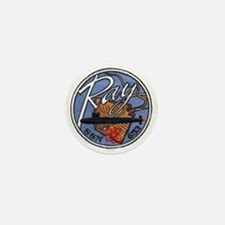 uss ray patch transparent Mini Button