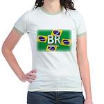 Brazil Pride Jr. Ringer T-Shirt