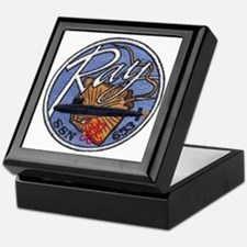 uss ray patch transparent Keepsake Box