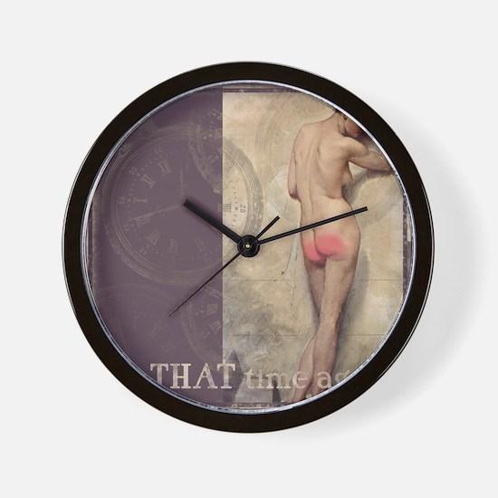 Tender Cheeks Wall Clock