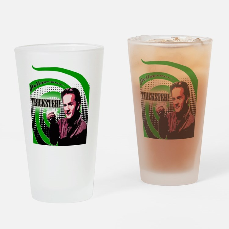 Hello Trickster Drinking Glass