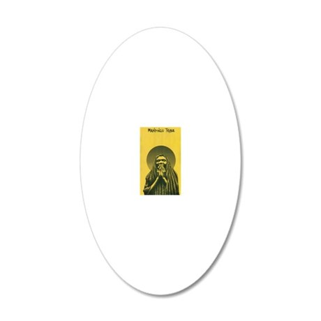 Woman of the Mandingo Tribe 20x12 Oval Wall Decal