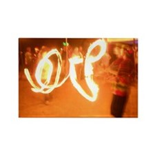Love Fire Rectangle Magnet
