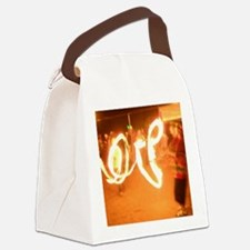 Love Fire Canvas Lunch Bag