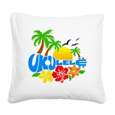 Ukulele Island Logo Square Canvas Pillow