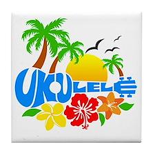 Ukulele Island Logo Tile Coaster
