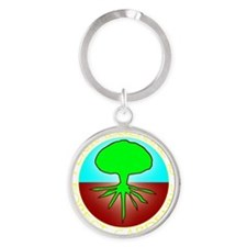Permaculture2 Round Keychain