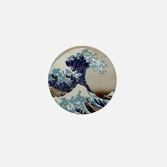 Hokusai Mini Button