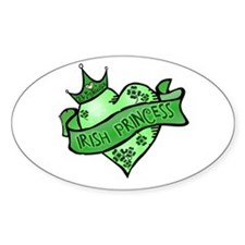 Irish Princess St. Patricks Day Oval Decal