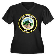 uss yosemite Women's Plus Size Dark V-Neck T-Shirt