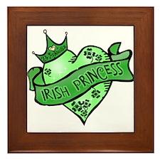 Irish Princess St. Patricks Day Framed Tile