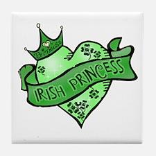 Irish Princess St. Patricks Day Tile Coaster