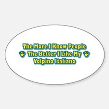 Like Volpino Oval Decal