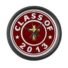 Class Of 2013 Christian Large Wall Clock