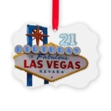 21 birthday vegas Picture Frame Ornaments