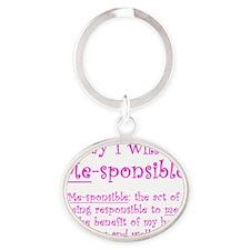 Me-sponsible Oval Keychain