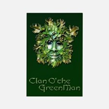 Clan O the Greenman w/ Celtic Bor Rectangle Magnet