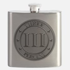 Three Percent Silver Flask