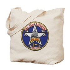 uss sam rayburn patch transparent Tote Bag