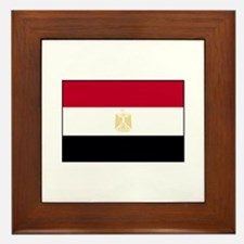 Egypt Flag Framed Tile