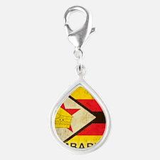 Vintage Zimbabwe Silver Teardrop Charm