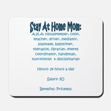 Stay At Home Mom (JD) Mousepad