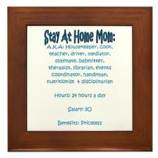 Stay At Home Mom (JD) Framed Tile