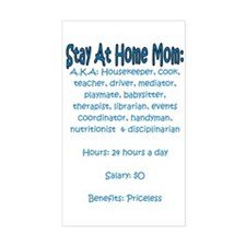 Stay At Home Mom (JD) Rectangle Decal