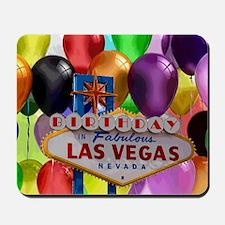 Birthday In Las Vegas Balloon Mousepad