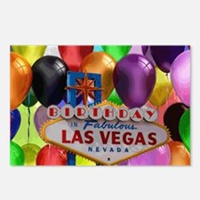 Birthday In Las Vegas Bal Postcards (Package of 8)