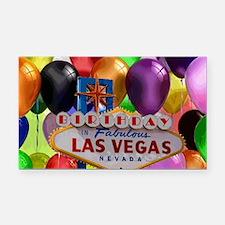 Birthday In Las Vegas Balloon Rectangle Car Magnet