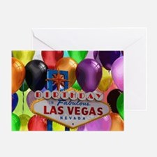Birthday In Las Vegas Balloon Greeting Card