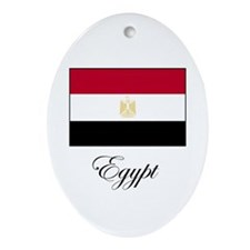 Egypt - Flag Oval Ornament