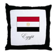 Egypt - Flag Throw Pillow