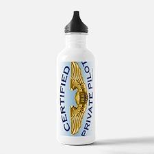 WingsCertPrivPilotLtBl Water Bottle