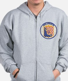 uss lafayette patch transparent Zip Hoodie